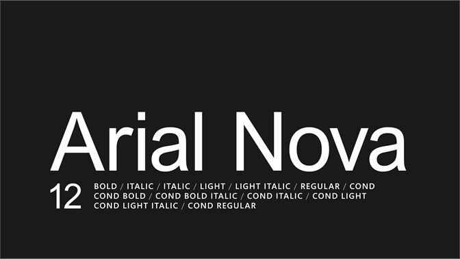 arial nova light font free download