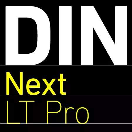 din next lt pro font family free download