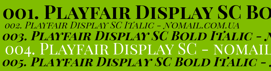 Playfair Display SC