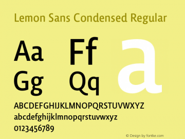 Lemon Sans Condensed