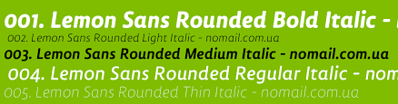 Lemon Sans Rounded Condensed