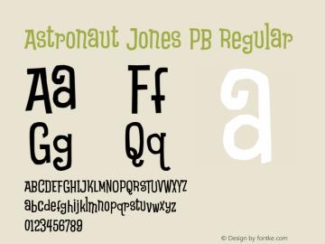 Astronaut Jones Pb Font Free Download For Web
